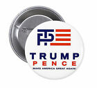 Trump Pence SET OF PINBACK BUTTONS pins donald badge new campaign 2016 #1449