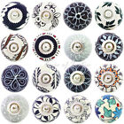 LARGE SELECTION - BLACK WHITE GREY DECORATIVE CERAMIC CUPBOARD DRESSER DOOR KNOB
