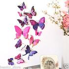 12pcs 3d Butterfly Wall Sticker Fridge Magnet Diy Room Wall Decor Decal Stickers
