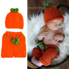 Infant Baby Unisex  Pumpkin Style Crochet Knit Costume Photo Photography Prop