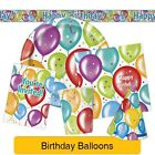 BALLOON BIRTHDAY Party Tableware & Decorations (Birthday/Plates/Napkins/Hats)