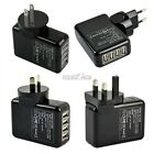 4 Ports USB Wall home AC Charger Adapter For iPhone Samsung UK/US/AU/EU Plug S0B