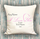 Love LUXURY CUSHION PERSONALISED COVER YOUR TEXT, PERFECT GIFT