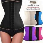 100% Latex Rubber Body Control Shaper Corset Cincher Trainer Waistline Belt H24