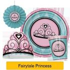 FAIRYTALE PRINCESS Party Tableware & Decorations (Banner/Napkins/Straws/Plates)