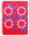 Letts A5 Bloom Floral Red Week to View (On 2 Pages) Wiro Diary & Band 2017