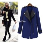 Winter Women Cardigan Big Lapel Collar Coat Long Leather Jacket Parka Trench S0B