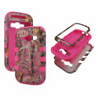 FOR SAMSUNG GALAXY PREVAIL 2 RING TRIPLE LAYER BOX HYBRID CASE HARD SOFT CASES