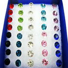 20Pcs Diamond Cut Clear Crystal Hypoallergenic Needle Clear Ear Studs Earrings