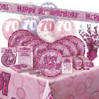 ALTER 70/70TH GEBURTSTAG ROSA GLANZ PARTY REIHE Ballon/Dekoration/Banner/
