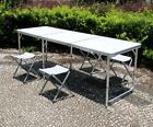 4/6/8FT Adjustable Folding Camping Table Catering Garden Picnic Party Heavy Duty