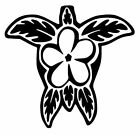 Turtle Tropical Plumeria Tribal Car Truck Window Vinyl Decal Sticker 10 COLORS