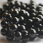 "16"" Semi Precious Gemstone Frosted Matte Black Agate Onyx Round Beads 4mm - 10mm"