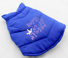 DOG COATS PERSONALIZED WITH EMBROIDERY ROYAL BLUE
