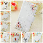 Handmade Flip Bling Diamond Crystal Wallet Case Leather Cover For BLU R1 HD