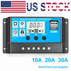 30A 20A 10A Solar Panel Controller Battery Charge Regulator 12V/24V With USB