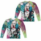 Suicide Squad Movie Harley Quinn Psychedelic Sublimation Long Sleeve Shirt