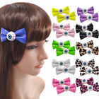 1 Pair Bow Lovely Hair Accessories Synthetic Leather Hairpin Harajuku Plastic