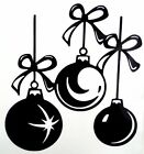 Christmas Ornaments Holiday Car Truck Window Vinyl Decal Sticker 10 Colors