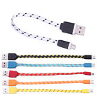 USB 2.0 Braided Nylon Micro USB Data Sync Charger Cable for Samsung Android HTC