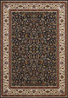 Blue Vines Petals Scrolls Traditional-European Area Rug Bordered 1900-01464