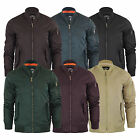 Mens Bomber Jacket Brave Soul Oslo Padded MA1 Flight Coat