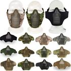 Paintball Airsoft Nylon Mask Half Face Metal Mesh Cover Guard Gear Adjustable