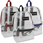 Clear Trailmaker Backpack Bookbag With Colored Trim - New With Tags