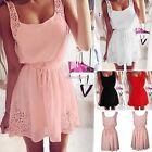 Women Sleeveless Party Dress Sexy Evening Cocktail Casual Mini Dress Summer N98B