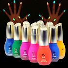 12 Colors 15ml Fluorescent Nail Art Polish Glow in Nail Varnish Nail Enamel N98B