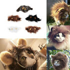 Pet Costume Lion Mane Wig for Cat Halloween Christmas Party Dress Up With Ear SW