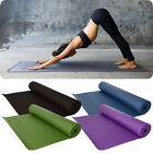 Yoga Mat PVC Exercise Pilates Physio Fitness Thick Gym Mats Non Slip Carrier Bag