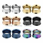 Classic Mix Color Steel Screw Plugs Ear Tunnel 8G-15/16'' Piercing Expander Gift