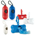 Pet Waste Bone Bag Holder - Plastic Dog Poo Bag Dispenser Lead Walking Carrying