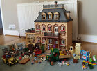 Playmobil Victorian mansion dolls' house 1989 (5300) with vehicles and add ons
