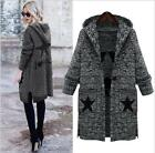 Women's Grey Thick Knit Casual Outdoor Cardigans Long Coat Plus Size 14 To 24
