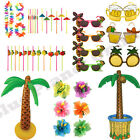 HAWAIIAN HULA LUAU SUMMER HULA BEACH POOL PARTY FANCY DRESS ACCESSORIES LOT