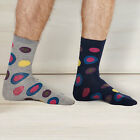 Braintree Bamboo Socks - Bold Circle & Spot Design, 2 Colours : Free UK Delivery