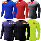 Mens Compression Base Layers Body Armour Long Sleeve Under T-Shirt Top Skins Tee