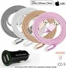 Apple Certified Tangle-Free Lightning to USB Charging Cord iPhone &Car Charger