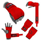 Hand Wrap Red Padded GEL inner boxing glove MMA UFC Quick wraps Kids hand wrap
