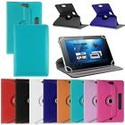 """Leather Folio Android Tablet Case Cover 360° For Universal PC 7"""" 8"""" 9"""" 10"""" 10.1"""""""