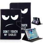"Don't Touch My Tablet 10"" Universal Leather Box Case For Samsung/Toshiba/Verzion"