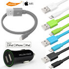 4x Adaptive Fast Charging Car Charger&Lightning USB Charger Cable iPhone 7 6s SE