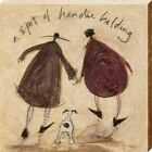 Sam Toft A Spot Of Handie Holding Canvas Print 30x30x3.8cm