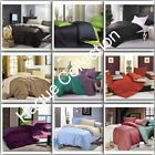 4 PIECE 100% COTTON BEDDING SETS WITH DUVET COVER, FITTED SHEET & PILLOWCASES