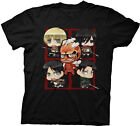 Official Attack On Titan Chibi Adult T-shirt -Xbox One Japanese manga series Tee