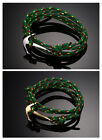 Jewelry Men's Women's New Green Braided Wristband Anchor Titanium Steel Bracelet