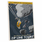 'Zip Line Tours' by Steve Thomas Vintage Advertisement on Wrapped Canvas