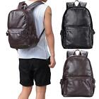 Leather Rucksack Men School Laptop Satchel Shoulder Bag Backpack Camping B1N3